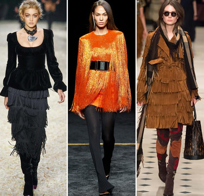 Fall/ Winter 2015-2016 Fashion Trends: Fringes