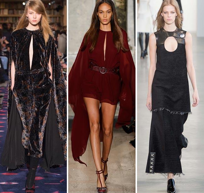 Fall/ Winter 2015-2016 Fashion Trends: Keyhole Slits