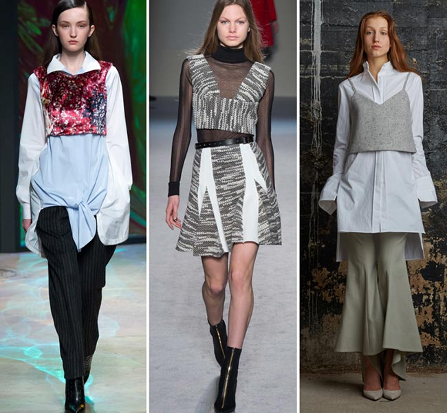 Fall/ Winter 2015-2016 Fashion Trends: Layered Crop Tops