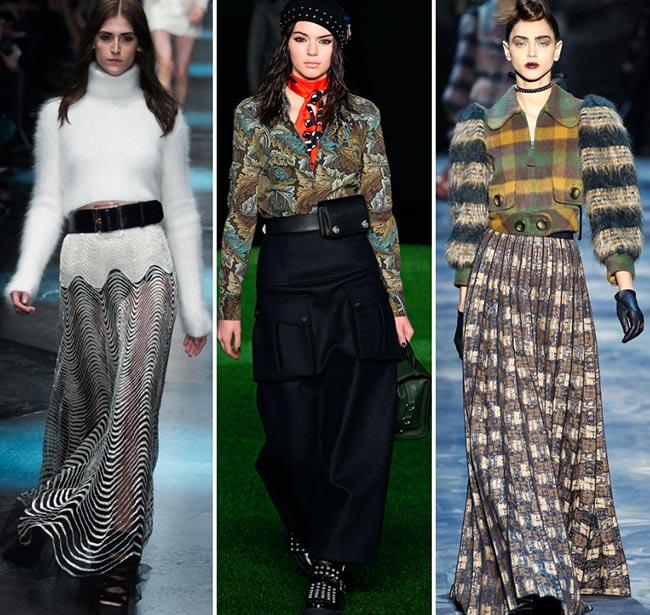 Fall/ Winter 2015-2016 Fashion Trends: Maxi Skirts
