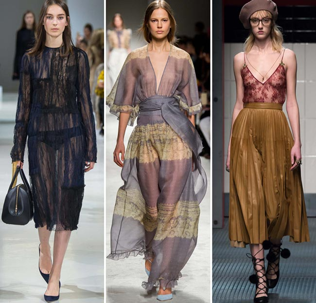 Fall/ Winter 2015-2016 Fashion Trends: Transparency