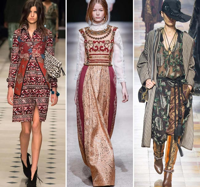 Fall/ Winter 2015-2016 Fashion Trends: Traditional Folk Style
