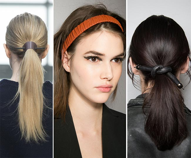 Fall/ Winter 2015-2016 Hairstyle Trends: Leather Hair Accessories