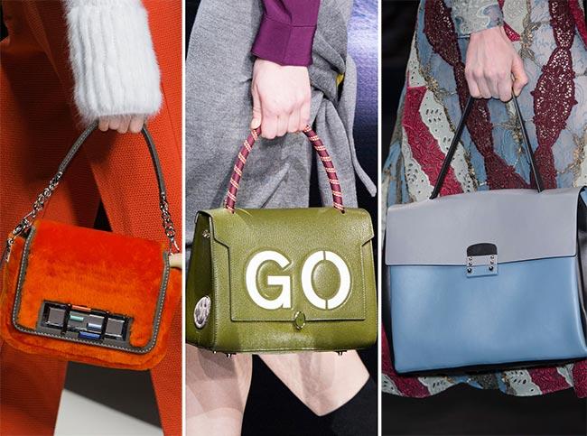 Fall/ Winter 2015-2016 Handbag Trends: Brightly Colored Handbags
