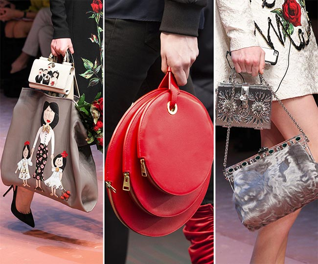e865cc079b4 Fall/ Winter 2015-2016 Handbag Trends: Carrying Multiple Bags At a Time