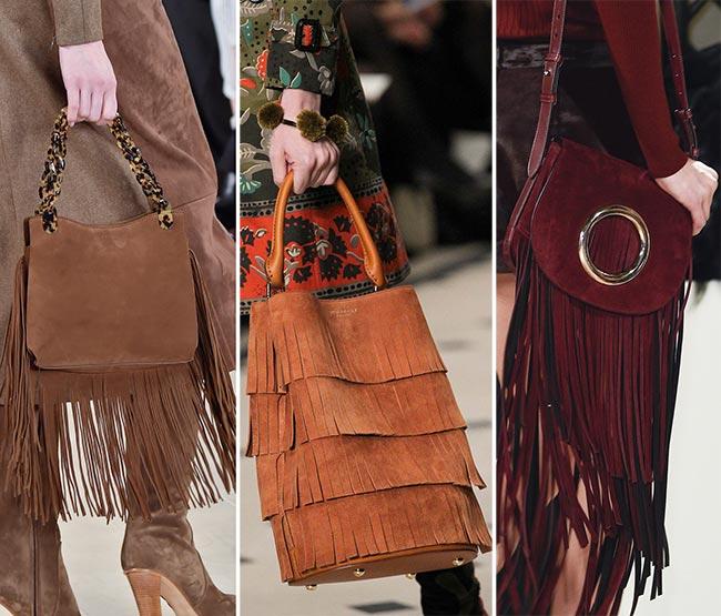 Fall/ Winter 2015-2016 Handbag Trends: Fringed Handbags