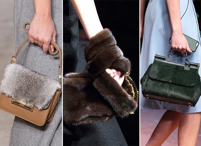 Fall/ Winter 2015-2016 Handbag Trends: Fur Handbags