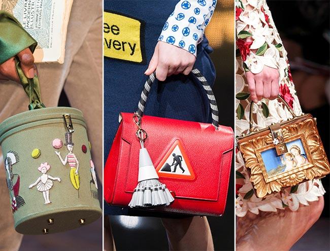 Fall/ Winter 2015-2016 Handbag Trends: Handbags With Prints and Graphics