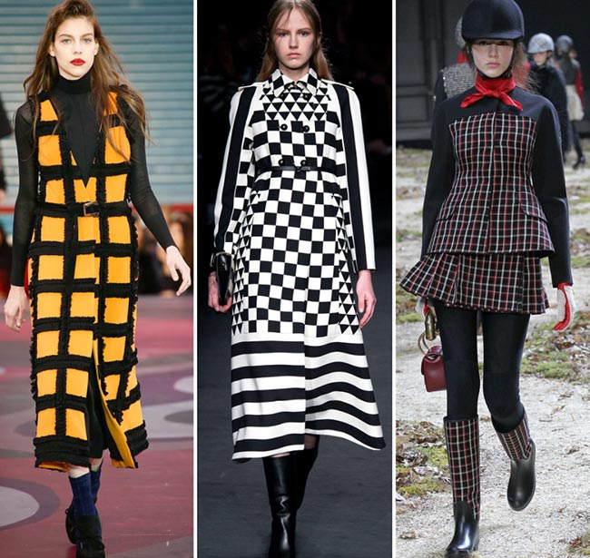 Fall/ Winter 2015-2016 Print Trends: Checkered Patterns