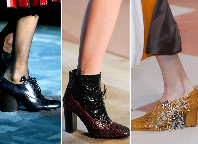 Fall/ Winter 2015-2016 Shoe Trends: Low-Heeled Shoes