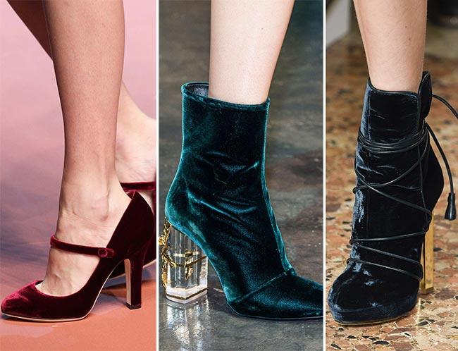 Fall/ Winter 2015-2016 Shoe Trends: Velvet Shoes