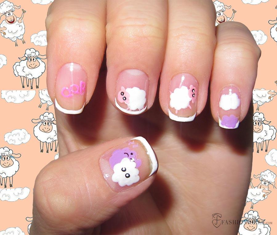 9 Pretty Sheep Nail Art Designs
