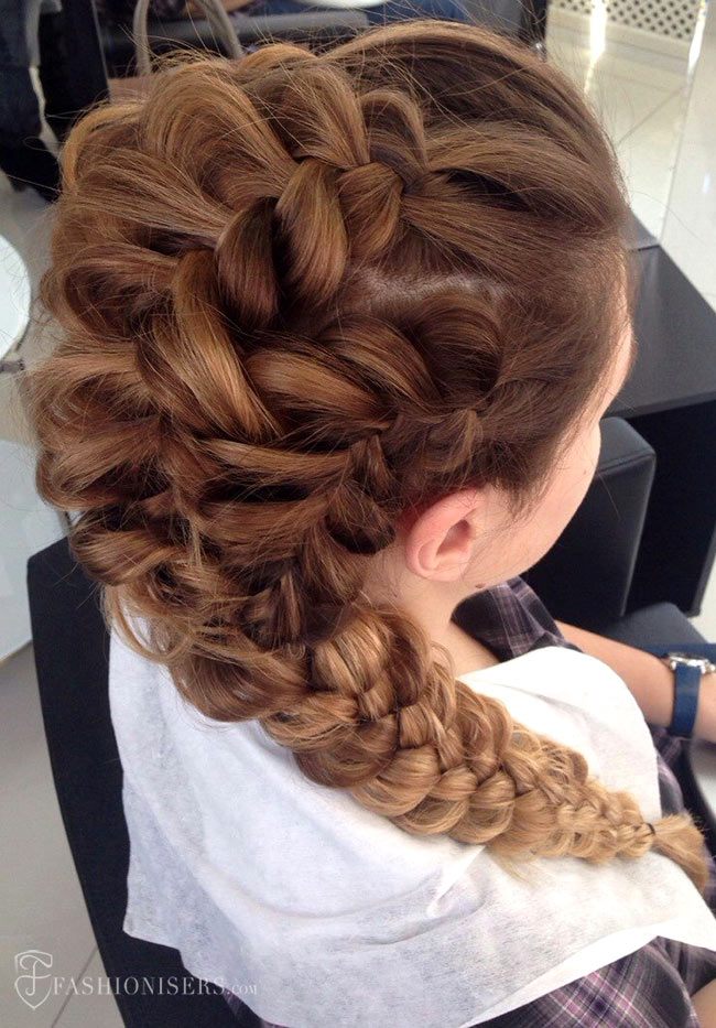 5 Pretty Braided Hairstyles for Prom: Dutch Braided Ponytail