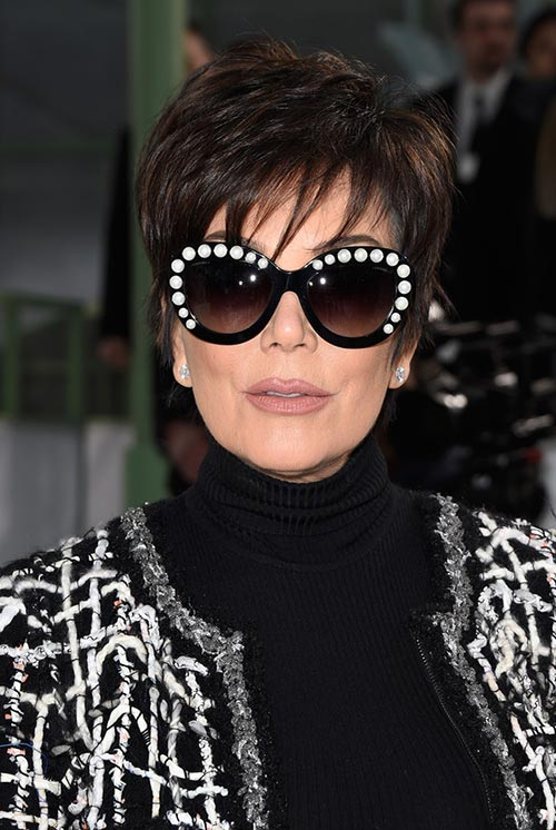 1ea4ec8c6e94 Short Hairstyle Ideas  Kris Jenner Layered Razor Haircut