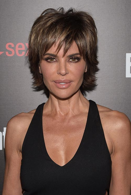 ways to style short layered hair 15 lovely ways to style your hair this 1910 | ways to style short hair in spring layered razor haircut Lisa Rinna