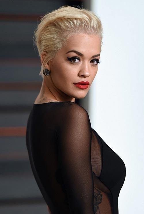 Short Hairstyle Ideas: Rita Ora Messy Short Hair