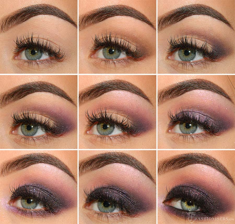 Deep Purple Smokey Eye Makeup Tutorial Fashionisers