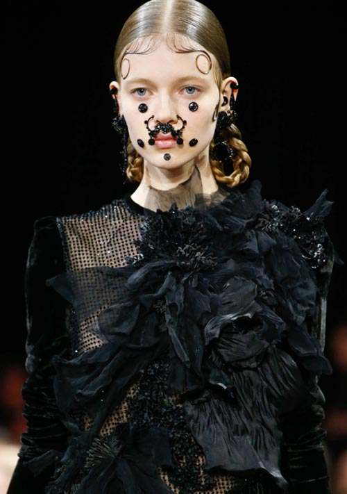Fall 2015 Trend of Face Piercings: Givenchy
