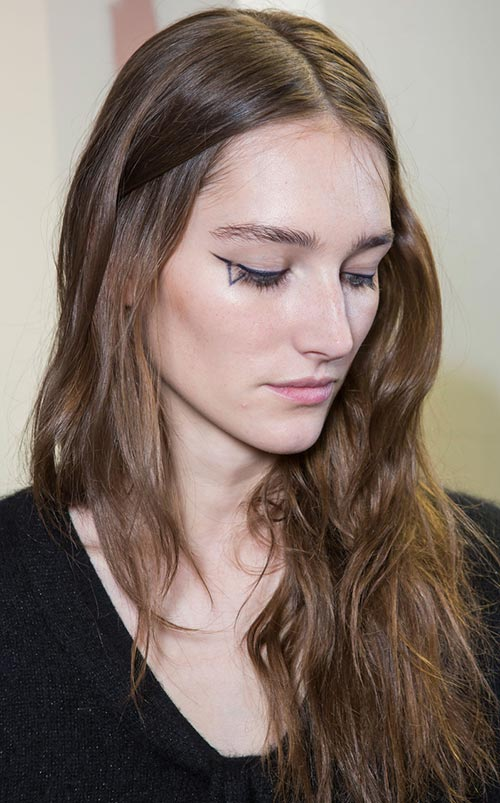 Fall 2015 Trend of Face Tattoos: Anthony Vaccarello