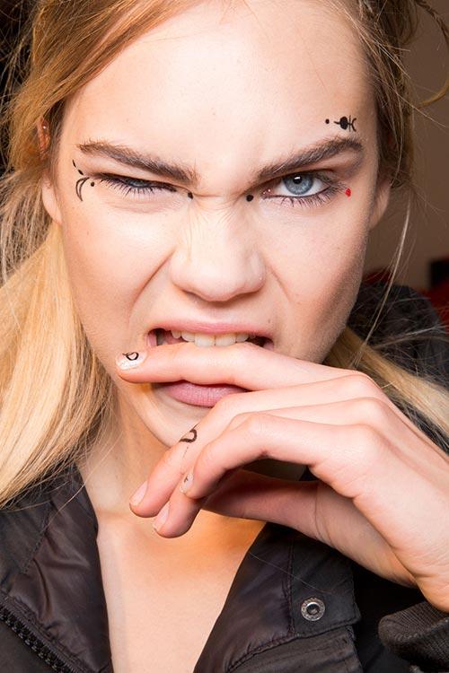 Fall 2015 Trend of Face Tattoos: Giamba