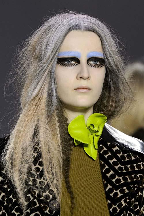 Fall 2015 Trend of Frightening Makeup: Maison Margiela
