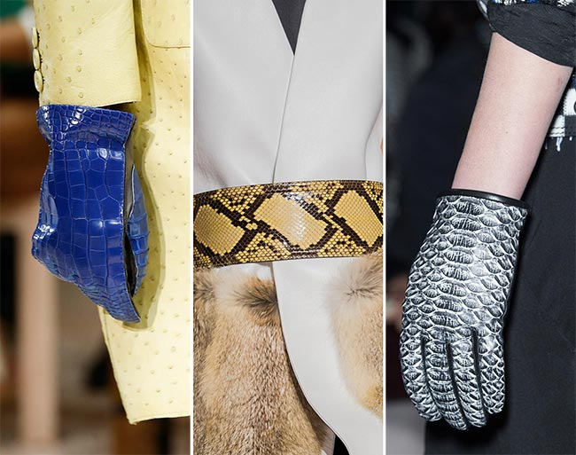 Fall/ Winter 2015-2016 Accessory Trends: Reptile Skin Accessories