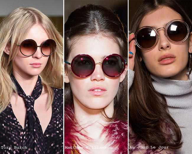 Fall/ Winter 2015-2016 Eyewear Trends: Round Sunglasses