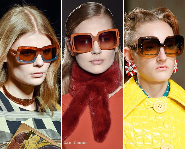 Fall/ Winter 2015-2016 Eyewear Trends: Square Sunglasses