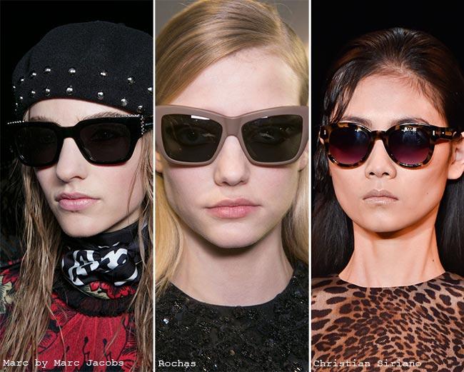 Fall/ Winter 2015-2016 Eyewear Trends: Sunglasses With Dark Lenses