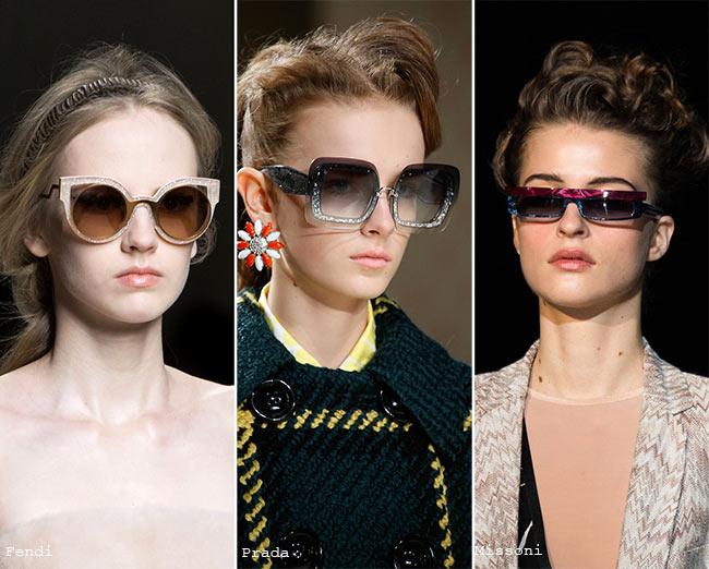 Fall/ Winter 2015-2016 Eyewear Trends: Sunglasses with Glittering Frames