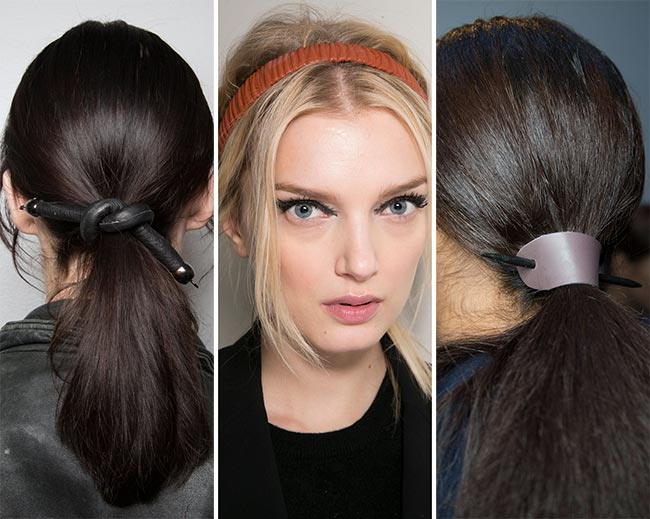 Fall/ Winter 2015-2016 Hair Accessory Trends: Leather Hair Accessories