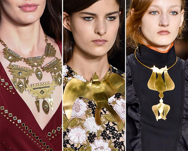 Fall/ Winter 2015-2016 Jewelry Trends: Breastplate Necklaces