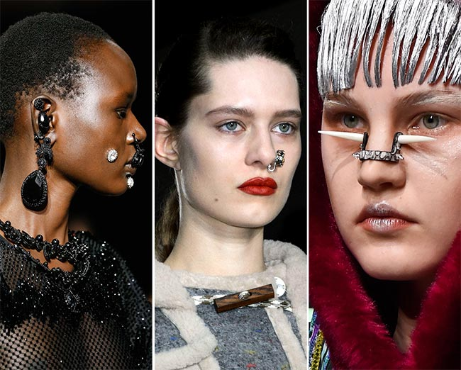 Fall/ Winter 2015-2016 Jewelry Trends: Facial Piercings