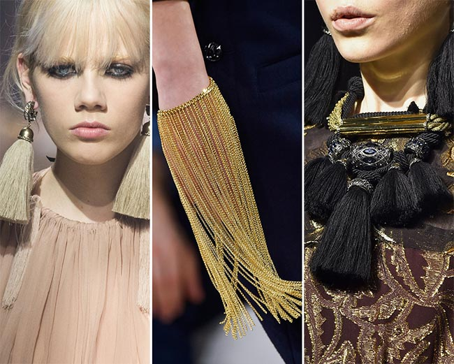 Fall/ Winter 2015-2016 Jewelry Trends: Fringed Jewelry