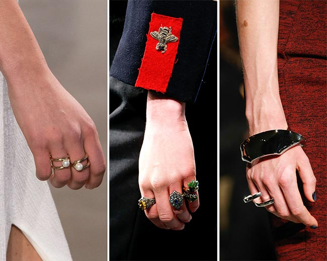 Fall/ Winter 2015-2016 Jewelry Trends: Multiple Rings on One Hand