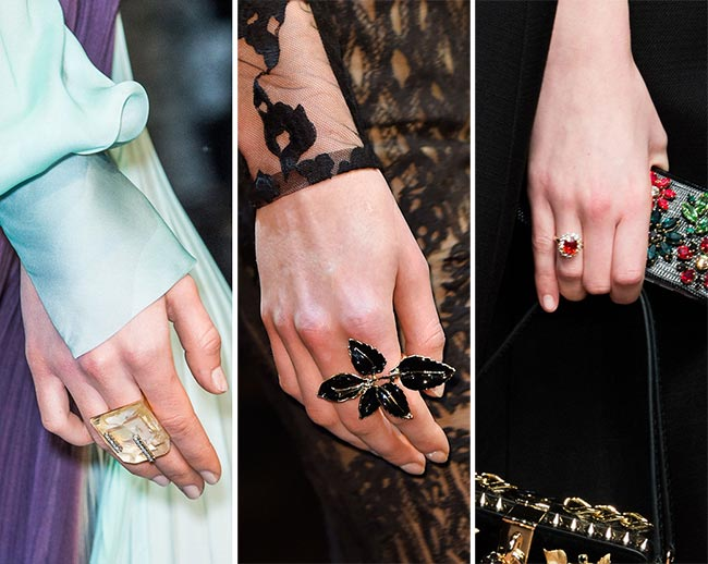 Fall/ Winter 2015-2016 Jewelry Trends: Statement Rings