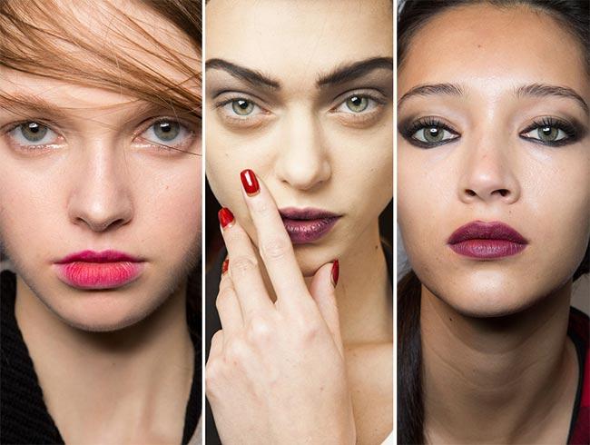 Fall/ Winter 2015-2016 Makeup Trends: Berry Lips