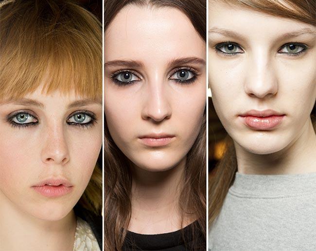 Fall/ Winter 2015-2016 Makeup Trends: Eyeliner On The Waterline