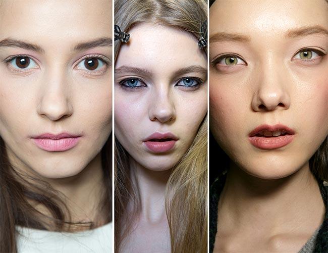 Fall/ Winter 2015-2016 Makeup Trends: Minimalist '90s Makeup