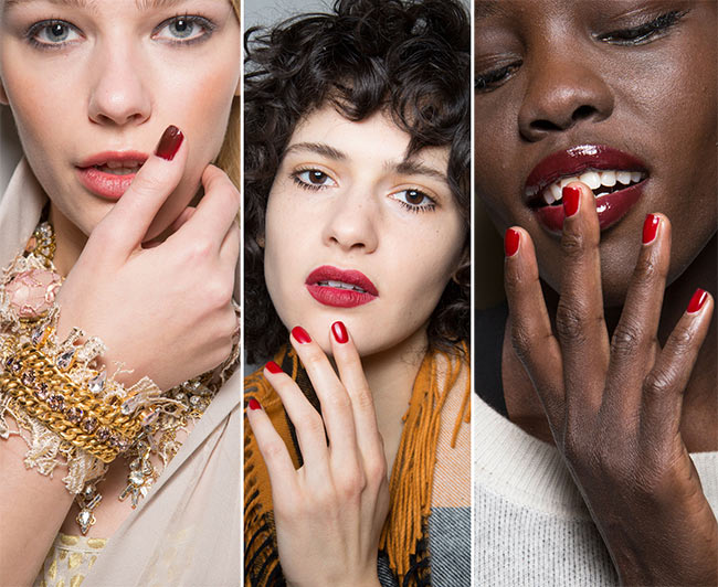 Fall/ Winter 2015-2016 Nail Trends: Red Nails