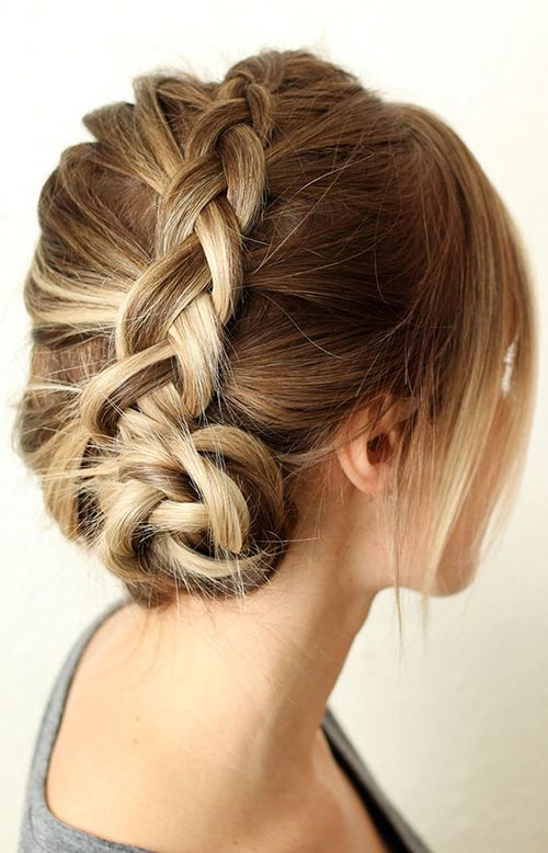 15 Killer Braided Hairstyles to Try for Coachella: Dutch Braided Bun