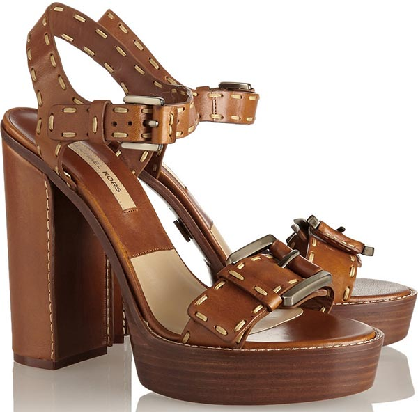 Trendy Spring/ Summer 2015 Platform Shoes: Michael Kors Platform Sandals