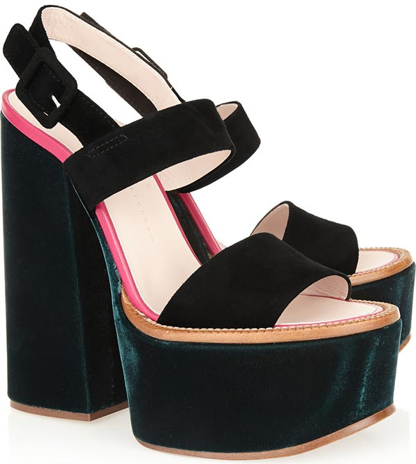 Trendy Spring/ Summer 2015 Platform Shoes: Victoria Beckham Platform Sandals