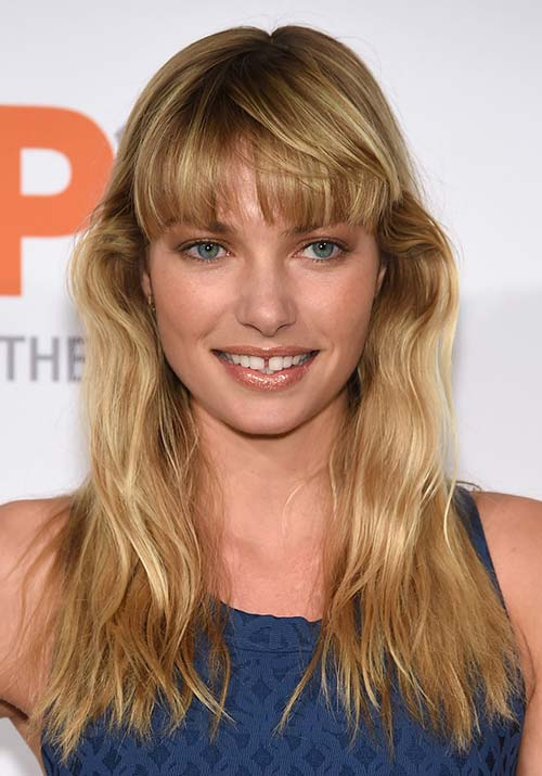 1970s Hairstyles With Bangs: Jessica Hart
