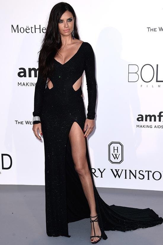 Cannes 2015 amfAR Gala Red Carpet Fashion: Adriana Lima