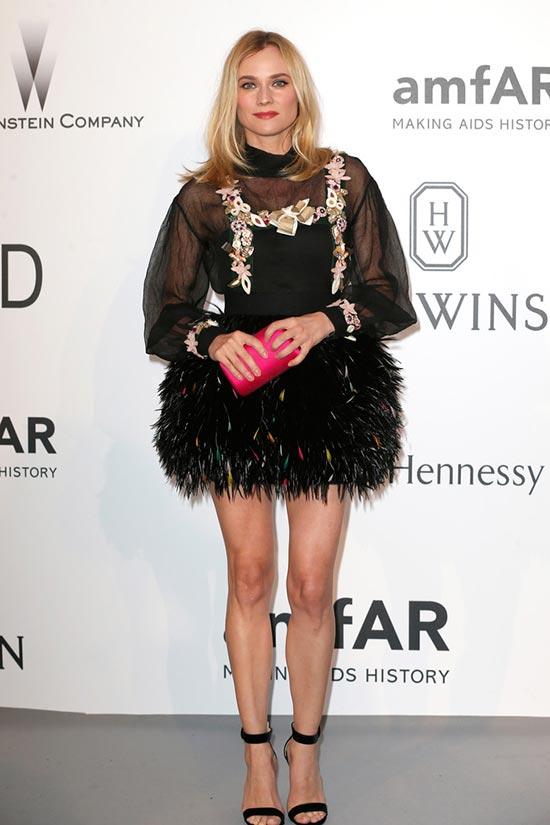Cannes 2015 amfAR Gala Red Carpet Fashion: Diane Kruger