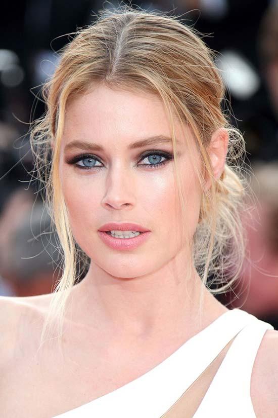 Cannes Film Festival 2015 Hairstyles & Makeup: Doutzen Kroes