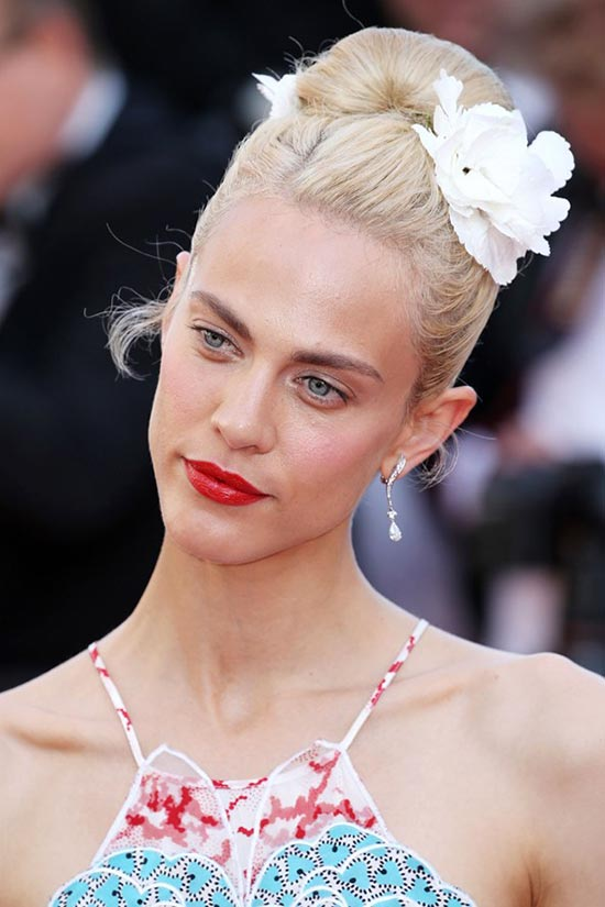 Cannes 2015 Hairstyles & Makeup: Aymeline Valade