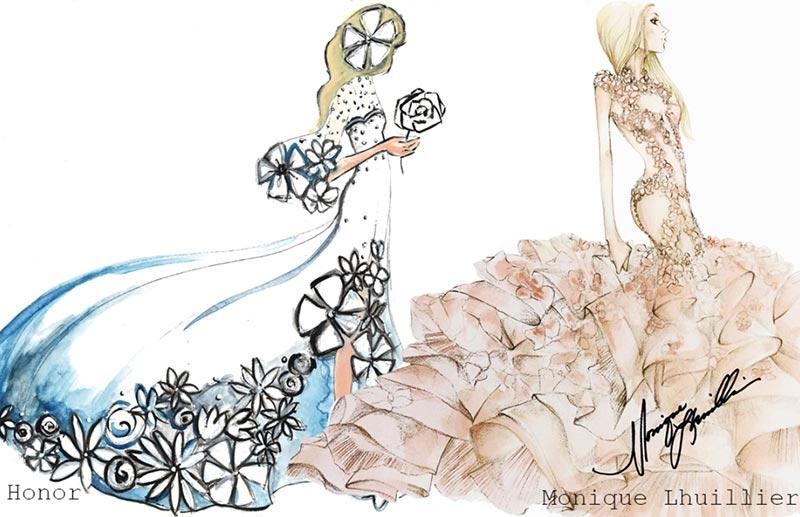 Lady Gaga's Wedding Dress Sketches