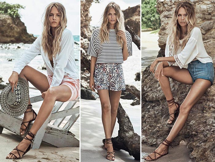 Natasha Poly for H&M Summer 2015 Beach Collection